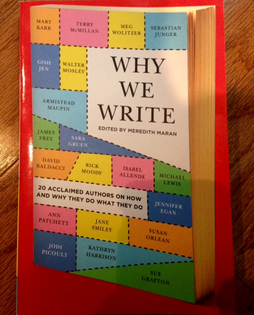 Why We Write, edited by Meredith Maran, photo of book cover