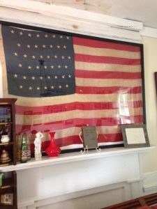 american flag mantel piece