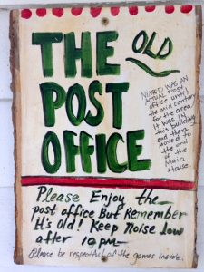 post office sign nimrod hall