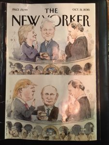 new yorker hillary clinton donald trump campaign reading