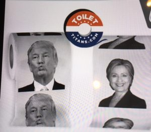 donald trump hillary clinton candidate toilet paper