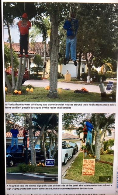 halloween hanging dummies