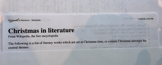reading christmas literature wikipedia