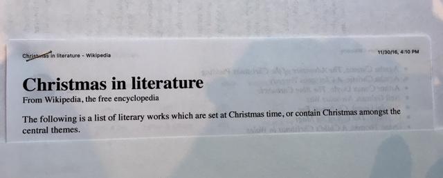 reading christmas literature wikipedia
