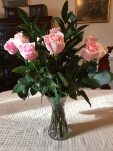 happy valentines day pink roses