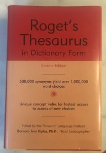 attributing words characters thesaurus