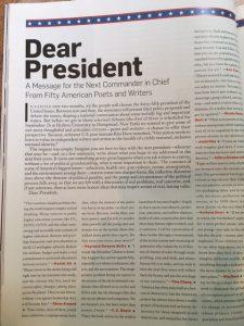 dear president