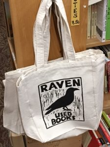 loving used bookstores raven used books tote