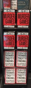 murder games james patterson david sedaris theft finding
