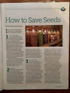 reading bits pieces how save seeds