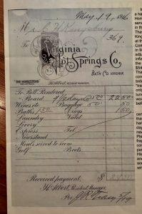 virginia hot springs company