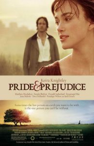 books into movies pride prejudice