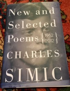reading week ahead new selected poems charles simic