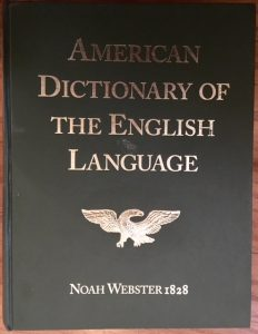 American Dictionary of the English Language front cover