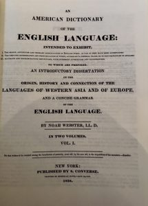 American Dictionary of the English Language title page
