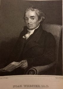 Portrait of Noah Webster, creator of Dictionary of American English