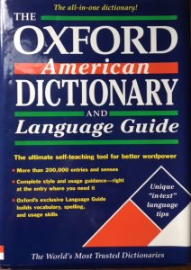 The Oxford American Dictionary and Language Guide front cover