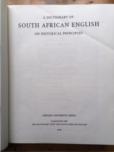 A Dictionary of South African English, title page