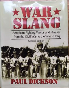 War Slang by Paul Dickson, cover of dictionary
