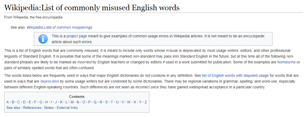 commonly misused english words