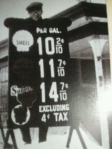 great depression gas prices