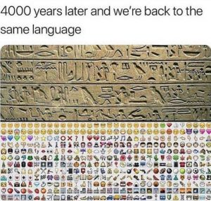 hieroglyphs emojis