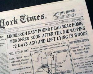 lindbergh baby newspaper
