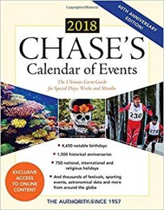 chase calendar of events