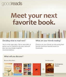goodreads login