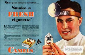 old cigarette ad