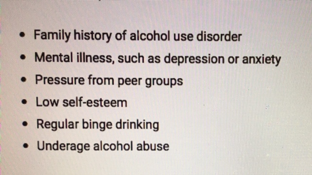 risk factors drinking