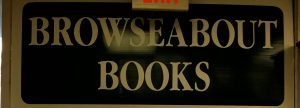 Browseabout Books sign