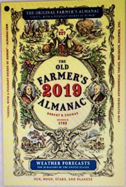 Farmer's Almanac 2019