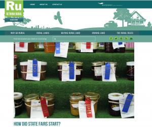 How Did State Fairs Start screenshot of article and canned food with prize ribbons