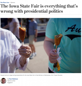 screenshot from Washington Post op-ed section about Iowa State Fair